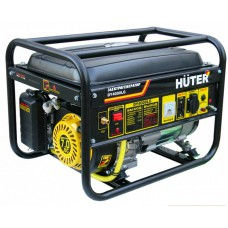 Huter DY4000LG Бензиновый генератор (3 кВт, газовый, ручной стартер)